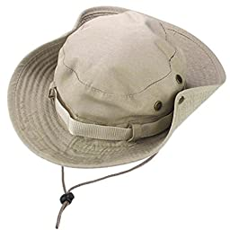 Bucket Hat Boonie Hunting Fishing Cap Outdoor Wide Brim Military Cap (B)