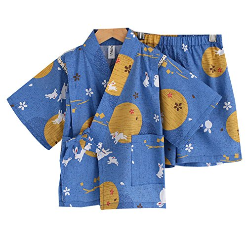 [Marshel Kimono Costume for Babys Japanese Cosplay Blue AX-JP-017-BL-120] (Rikku Cosplay Costume For Sale)