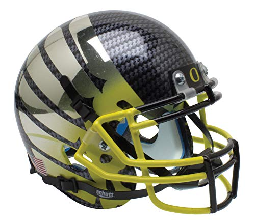 Schutt NCAA Oregon Ducks Mini Authentic XP Football Helmet, Yellow Fade Alt. 11 College Football Team Helmets