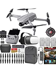 $919 » DJI CP.MA.00000167.03 Mavic Air 2 Drone Quadcopter Fly More Combo Renewed With One Year Warranty Bundle with Drone Landing Pad, 32GB Memory Card, Drone Essentials Software, Backpack and VR Viewer