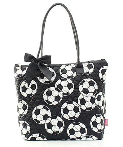 (Ngil Quilted Cotton Owl Medium Tote Bag (Soccer Black))