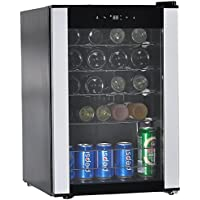 SMETA Compressor Wine Cabinet Small Wine Cellar Refrigerator Beverage Wine Cooler,19 Bottle