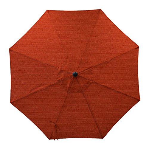Secret Garden Home Goods 9ft 8 Ribs Market Umbrella Replacement Canopy (Sunbrella- Terracotta)
