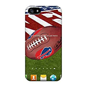 SherieHallborg Iphone 5/5s Anti-Scratch Hard Cell-phone Case Support Personal Customs High-definition Buffalo Bills Pattern [yuD4259zRIW]