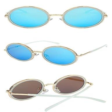 SenDi Gafas de sol - Caja grande marco redondo hipsters moda ...