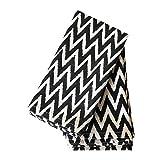Black Cloth Napkins, 20x20 inch, Chevron Cloth Napkins, 100% Cotton, Black and White