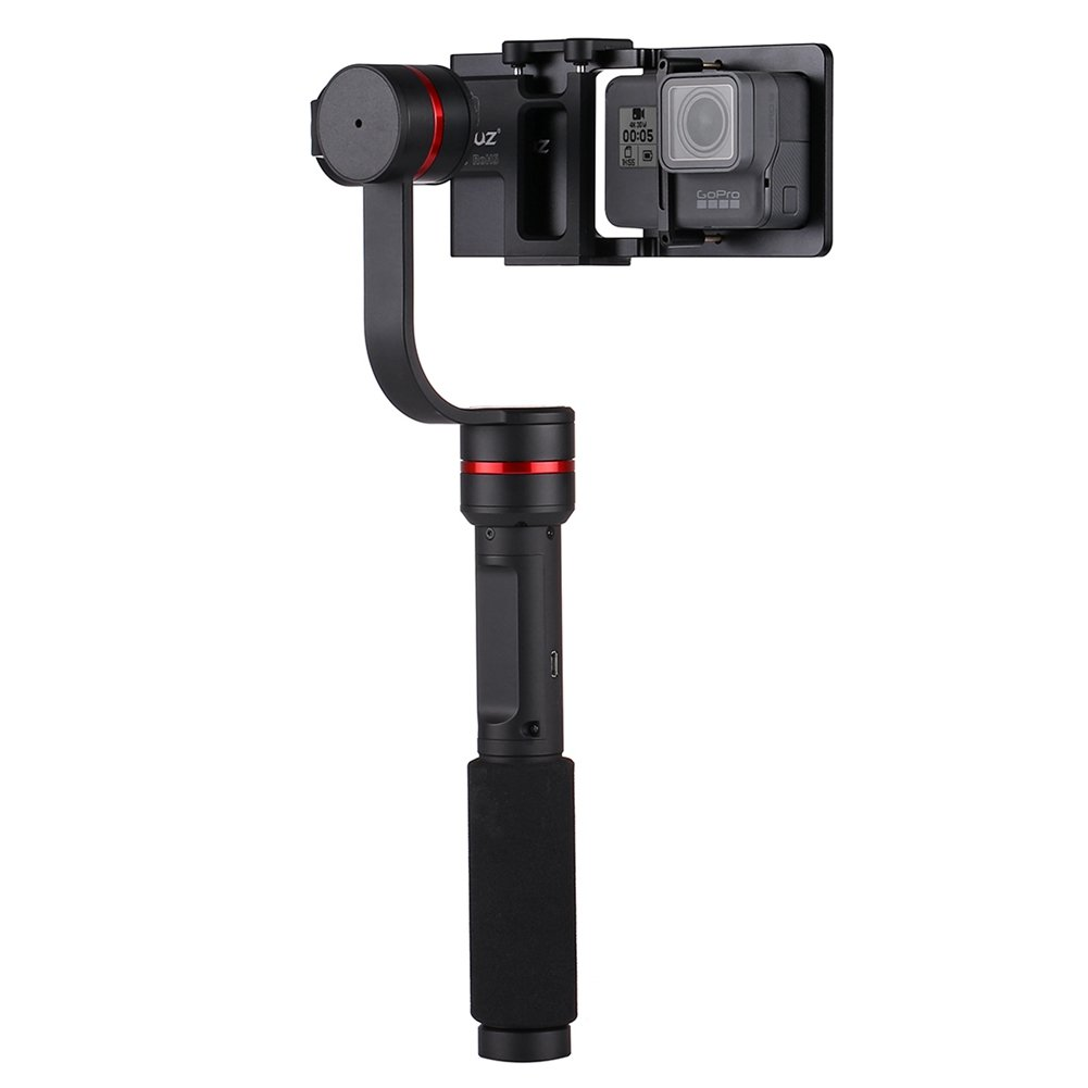 360 Degrees 3-Axis Handheld Selfie Phone Gimbal Stabilizer Mount+Switch Plate