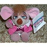 "Rare Disney Alice in Wonderland Dormouse 7"" Plush Bean Bag Doll Mint"