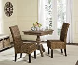 wicker dining room chairs Safavieh Home Collection Avita Natural Wicker 18-inch Dining Chair (Set of 2)