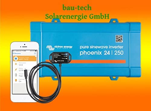 Spannungswandler Victron Phoenix 24V-250Watt VE.Direct reiner Sinus Inverter inklusiv Victron Bluetooth Smart Dongle von bau-tech Solarenergie GmbH
