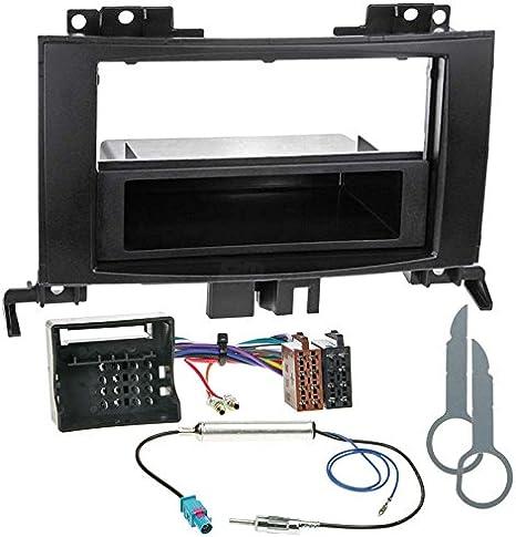 Antenne Kabel Set MERCEDES B-Klasse W245 ab06 2-DIN Radioblende ISO KFZ Adapter