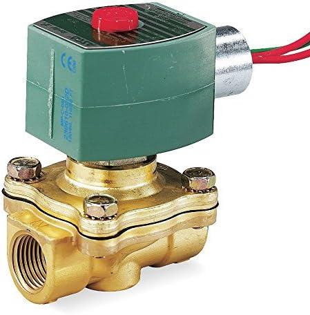 """Válvula solenoide de alto vacío de latón ASCO 110/120VAC, normalmente abierta, tamaño de tubo de 3/8"""" - 8210G033VH"""