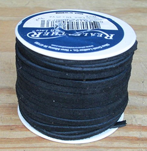 Buy Lace Lacing Leather Suede Black 25 Yard Spool
