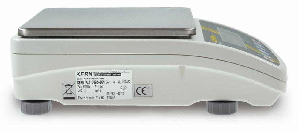 Präzisionswaage [Kern PLJ 6000-1GM] Prozesssicherheit dank interner interner interner Justierautomatik und Eichzulassung [M], Wägebereich [Max]  6000 g, Ablesbarkeit [d]  0,1 g, Wägeplatte  BxT 195x195 mm (Edelstahl) B06XFD64TH   Outlet Online    Großer Ver 0067e1