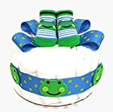 Frog One Tier Baby Boy Diaper Cake Baby Shower Centerpiece