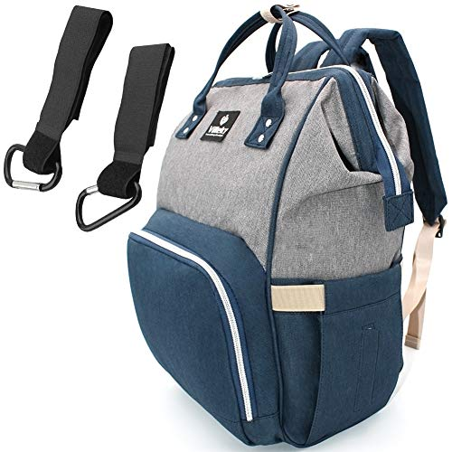 Toy Denim Bag (Diaper Bag Waterproof Insulation Travel Backpack Mummy Bag Large Capacity Baby Care Multi-Functional Fashion Durability (Blue Gray))