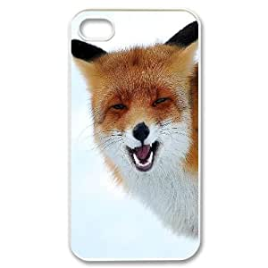 DIY Red fox singing Phone Case, DIY Shell Case for iphone 4,4s with Red fox singing (Pattern-3)