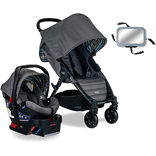 Britax Pathway & B-Safe 35 Travel System with Back Seat Mirror - Crew