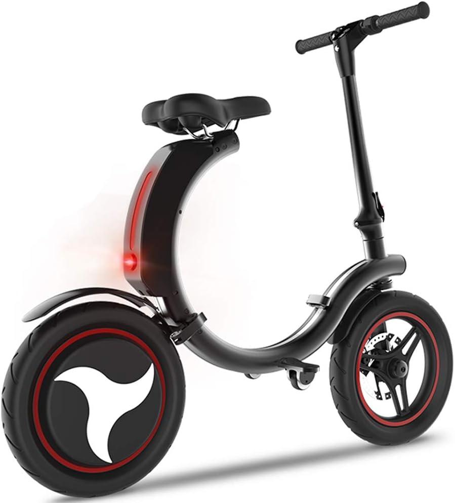 scooter De Pequeña Bicicleta Eléctrica 21.7 Millas Batería De Litio Viajes Adulta Plegable Creativa Bicicleta Asistida por 15.6MPH Máxima Velocidad: Amazon.es: Hogar