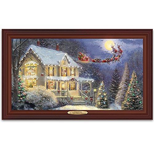 Thomas Kinkade The Night Before Christmas Illuminated Canvas Print Wall Decor With Narration by