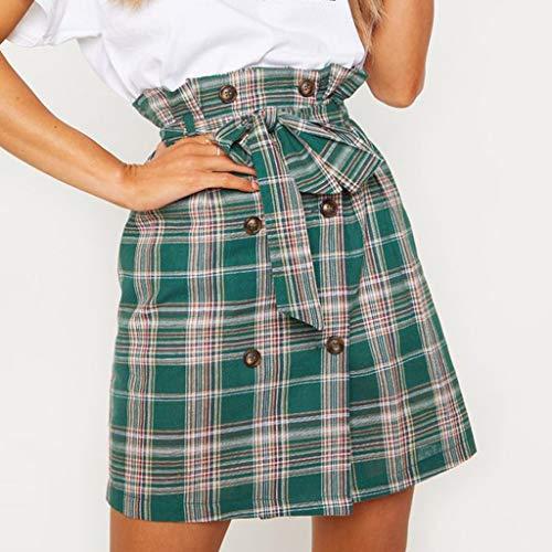 Sexy Womens Fashion Leisure Sport Mini Skirt Plaid Tie Slim Sexy Skirt by VEZAD (Image #2)