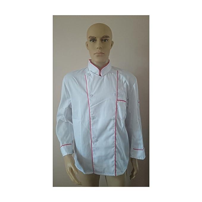 Servizi di Cucina Hotel Uniformi Ristorante Giacche da Chef Camicia Giacca  Cuoco vestiti Uniforme Lunga Manica S  Amazon.it  Abbigliamento a75fc0fe603f