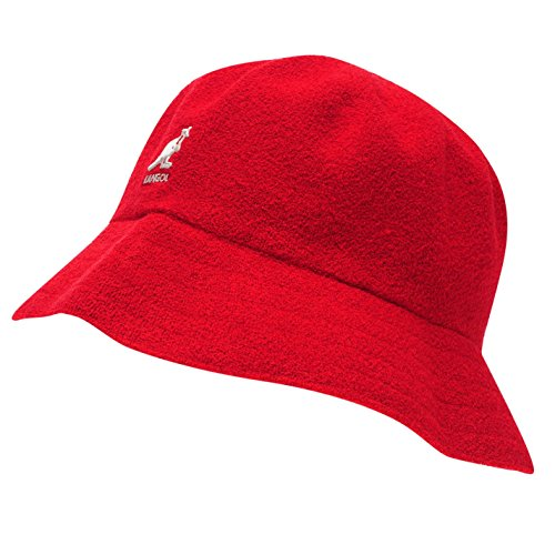 - Kangol Mens Boucle Bucket Hat Red LGE/XLGE