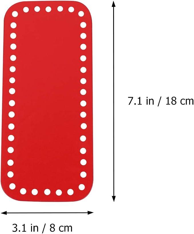 Exceart Geldb/örse Bottom Shaper Ovale Form Handtasche Base Shaper Pu Ledertasche Zubeh/ör f/ür DIY Stricken H/äkeln Aprikose