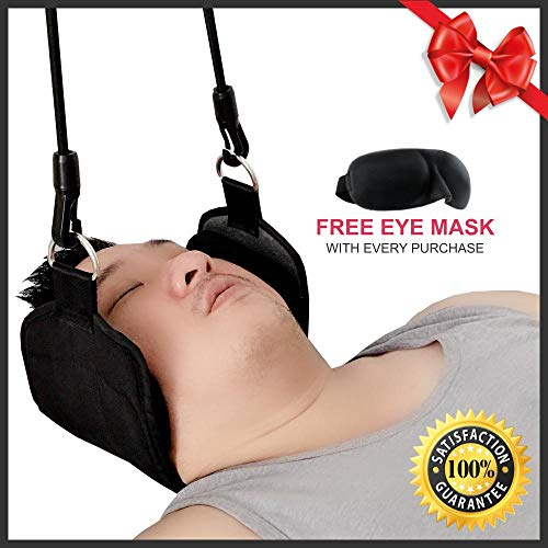HAMOGO Premium Instant Pain Relief Portable and Comfortable Neck Relaxation Hammock, Ideal for Back, Head and Shoulder, Durable and Flexible, Perfect Gift for Men and Women. ()