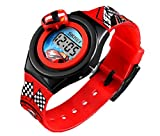 Kids Watches 3D Car Silicone Children Toddler Wrist Watches Time Teacher Gift for Boys Girls Little Child Red (Red)