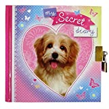 Girls Secret Diary - Puppy - 80 Pages with Lock & Key - Size 150mm x 150mm