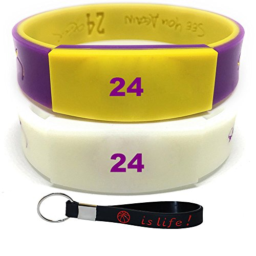Inspirational Silicone Bracelets Rubber Band Wristbands. Custom Embossed With Motivational Basketball star Number on it . Perfect for Fitness, Basketball, CrossFit, Sports & Task (Jordan Shoes Black Plain)