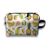 DTW1GjuY Lightweight And Waterproof Multifunction Storage Luggage Bag Pineapple Avocado