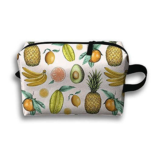 DTW1GjuY Lightweight And Waterproof Multifunction Storage Luggage Bag Pineapple Avocado by DTW1GjuY