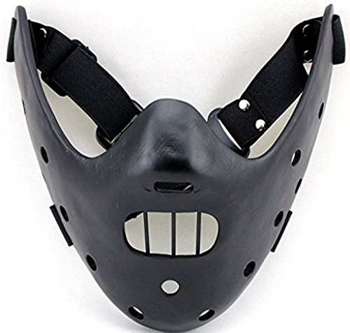 Cos-me The Silence of the Lambs Hannibal Lecter Cosplay Mask Halloween Masks Black -