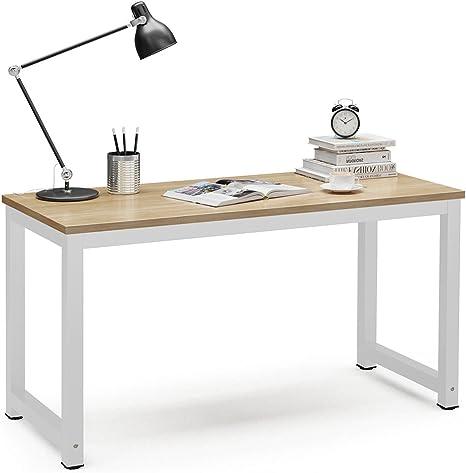 Amazon.com: Mesa para computadora Tribesigns moderna estilo ...