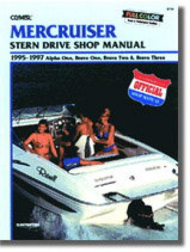 UB744 Used MerCruiser Alpha One Bravo One Two Three Stern Drive Boat Repair Manual 1995 1996 1997