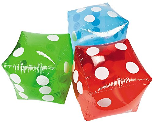 Jumbo Inflatable Transparent Dice assorted