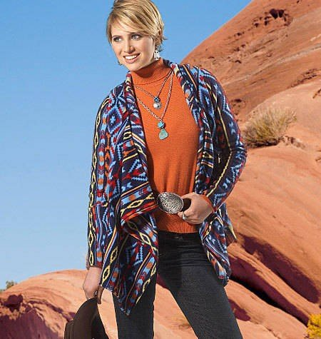 Sanweller(TM) Misses' Unlined Jackets and Vest ZZ LRG XLG XXL Pattern M6444 - ZZ0