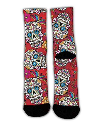 AllDECOR Sugar Skull Cross Flower Stockings Women's for sale  Delivered anywhere in USA