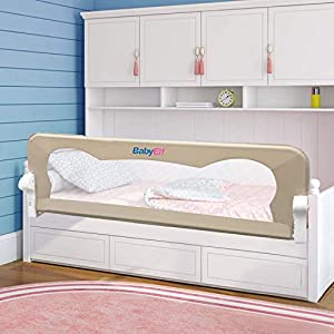 BabyElf Bed Rail for Toddlers 47″ Swing Down Bedrail Guard