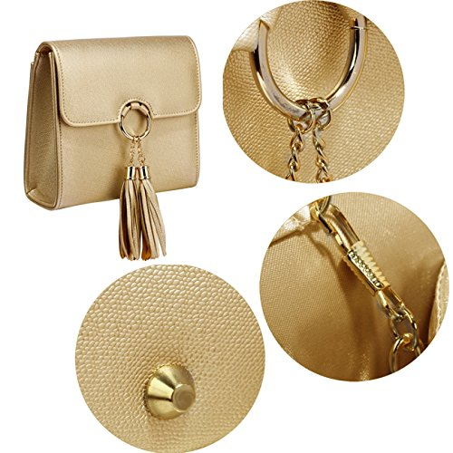 Leather Body LeahWard FLAP Faux Detail Ring GOLD Cross Handbags Chain Nice Women's Cute Bags TxIIrwE