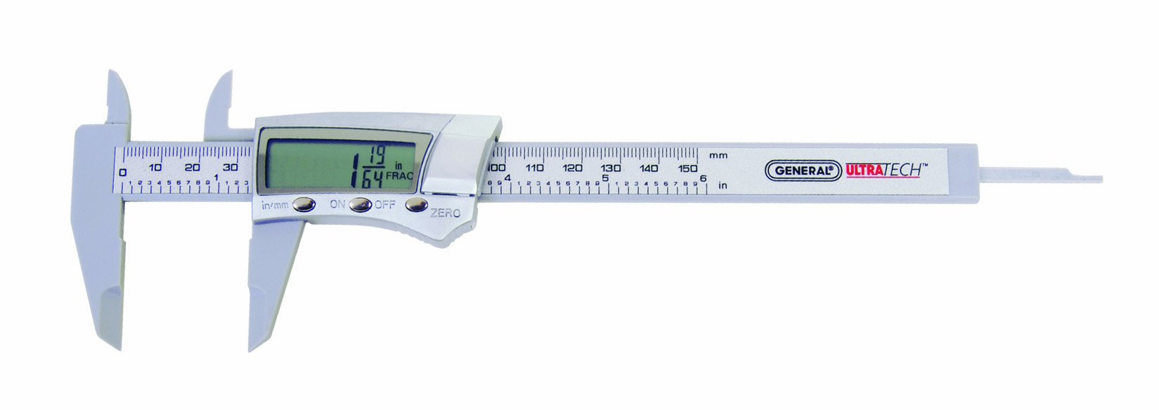 General Tools 146 Fraction Plus Digital Fractional Caliper, Carbon Fiber, 6-Inch