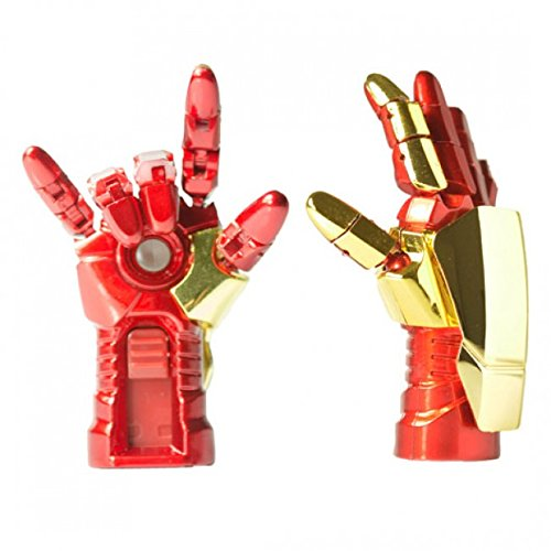 Quace Cool Red Metal Hand 16   GB USB Pen Drive with LED Pen Drives