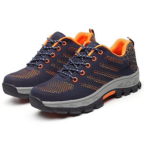 Shoes Orange Safety Work Construction YING LAN Sport Toe Men's and Industrial Protective Steel BSSPwTIq7
