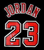 Michael Jordan Chicago Bulls Signed Autographed Short Sleeve Black #23 Jersey