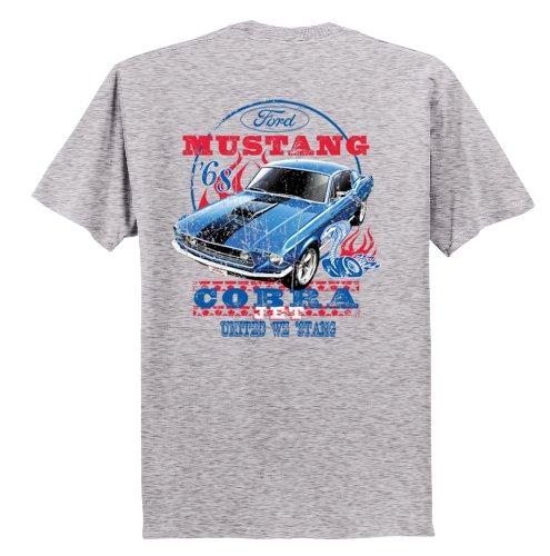 - Ford Mustang T-Shirt Cobra Jet '68 United We 'Stang-Sportsgray-XXL
