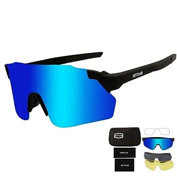 Amazon.com: HTTOAR - Gafas de sol deportivas con 3 lentes ...