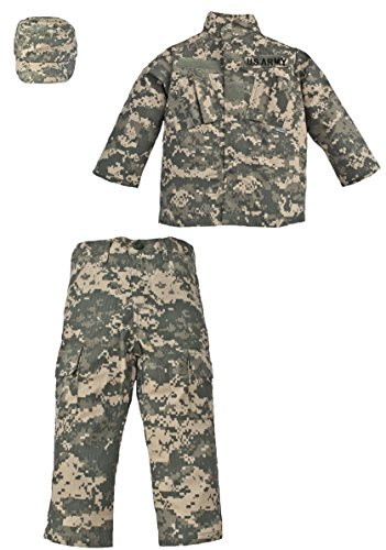 Trooper 3 Piece Children's Uniform Set US Army ACU Digital Camo (L (14-16)) - Kids Military Army Uniforms
