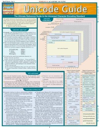 Unicode Guide Laminated Reference Chart